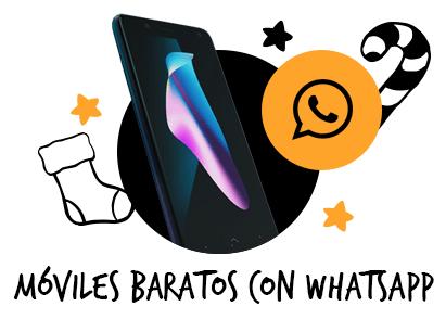 Móviles baratos con Whatsapp